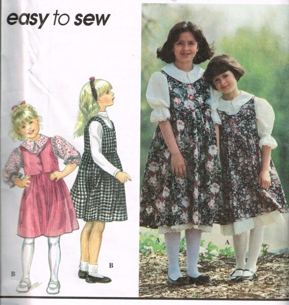 90er Jahre Mädchen Pullover und Bluse Schnittmuster Simplicity