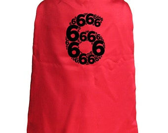 Birthday Cape - 6th Birthday Superhero 6 year old Cape - Kids Cape - Reversible Red / Blue - Super hero - great birthday gift or present