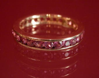 Handmade OOAK Pink Sapphire and Gold Ring (FREE Resizing Available)