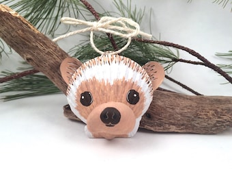 MEDIUM Seashell Hedgehog Ornament