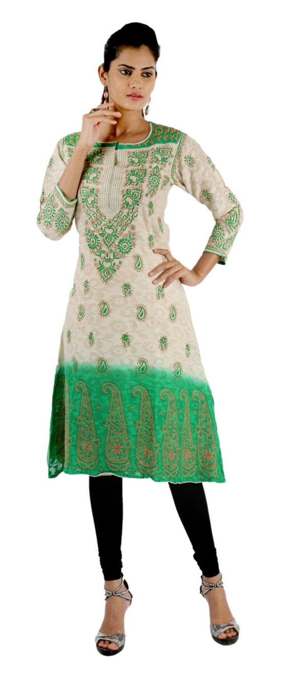 7a5f5b21fd0 Indiankala4u : Heart and Art of India. 0. Ladies Tops Tunic Kurti Blouse  Indian Chikankari Hand Embroidery Georgette handmade women's dresses ...