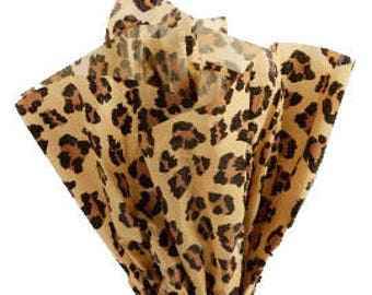 120 Sheets Leopard Tissue Paper 20x30 Inch