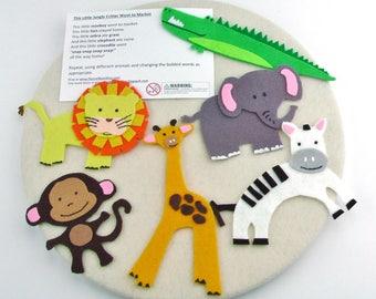 Learning Toy Gift Montessori, Jungle Felt Board, Montessori Quiet Learning Activity, Felt Activity Quiet Gift, Preschool Quiet Activity
