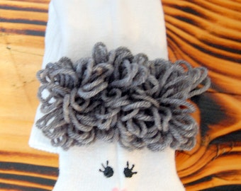 Grey hair Grandmother sock puppet