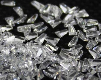Cubic Zirconia White Tapered Baguette AA+ Wholesale Lot Loose Stones (1.75x1.5x1 - 5x3x2)