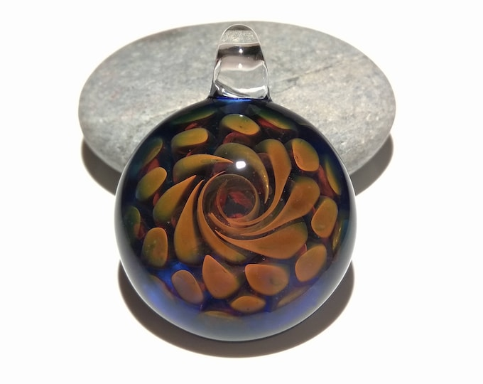 Hidden Portal Pendant - Handcrafted Glass Pendant - Glass Art - Unique Necklace - Blown Glass Jewelry - Hand Blown - Made with Pure Silver