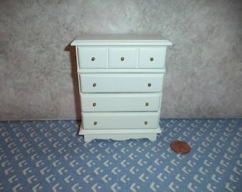 1:12 scale dollhouse miniature white wood dresser