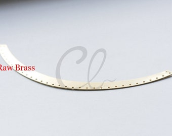 2pcs Raw Brass Curved Pendant - 160x12mm (1883C-T-277)
