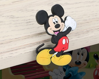 Children Room Furniture Accessories - Mickey Mouse Decorative Knobs - Cartoon Knobs and Pulls /Drawer Pulls /Cabinet Door Knobs   B002-7