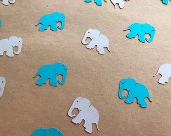Teal and Grey Elephant Confetti - Elephant Baby Shower - Teal Baby Shower - Teal and Grey Baby Shower - Teal Birthday Party Decorations