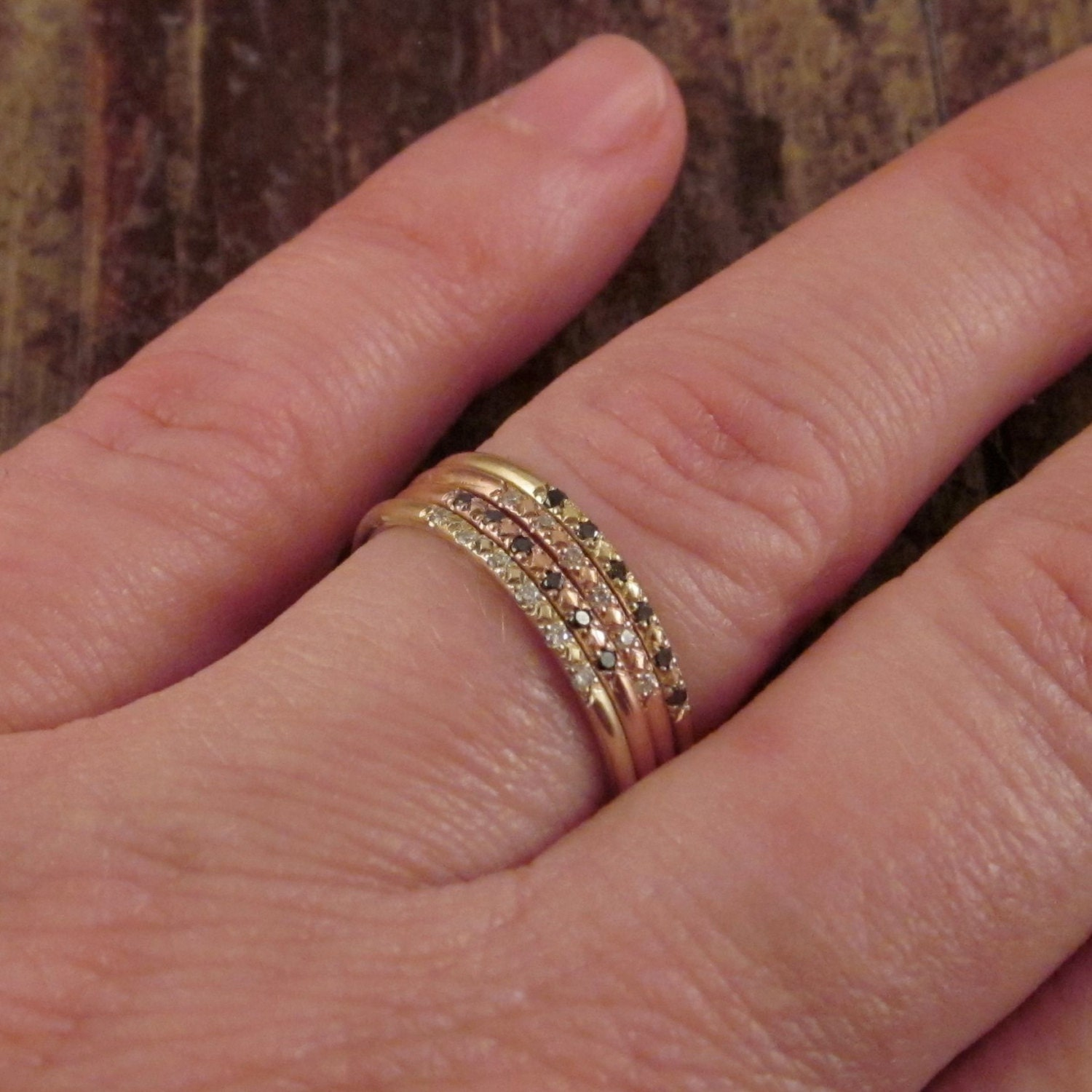 added yellow olkfcya stylish band and with engagement white rings ring diamond antique gold bands later wide