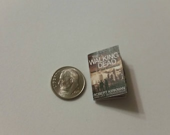 """Miniature Book 1"""" Walking Dead Comic Book many covers available"""