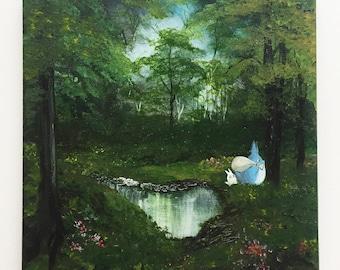 Follow Me Totoro - ORIGINAL painting