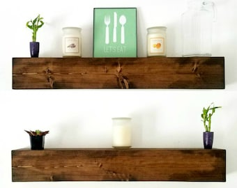 Floating Shelves | Wood Floating Shelf decor | Farmhouse Decor | Ledge Shelf | Rustic decor | Wall shelf