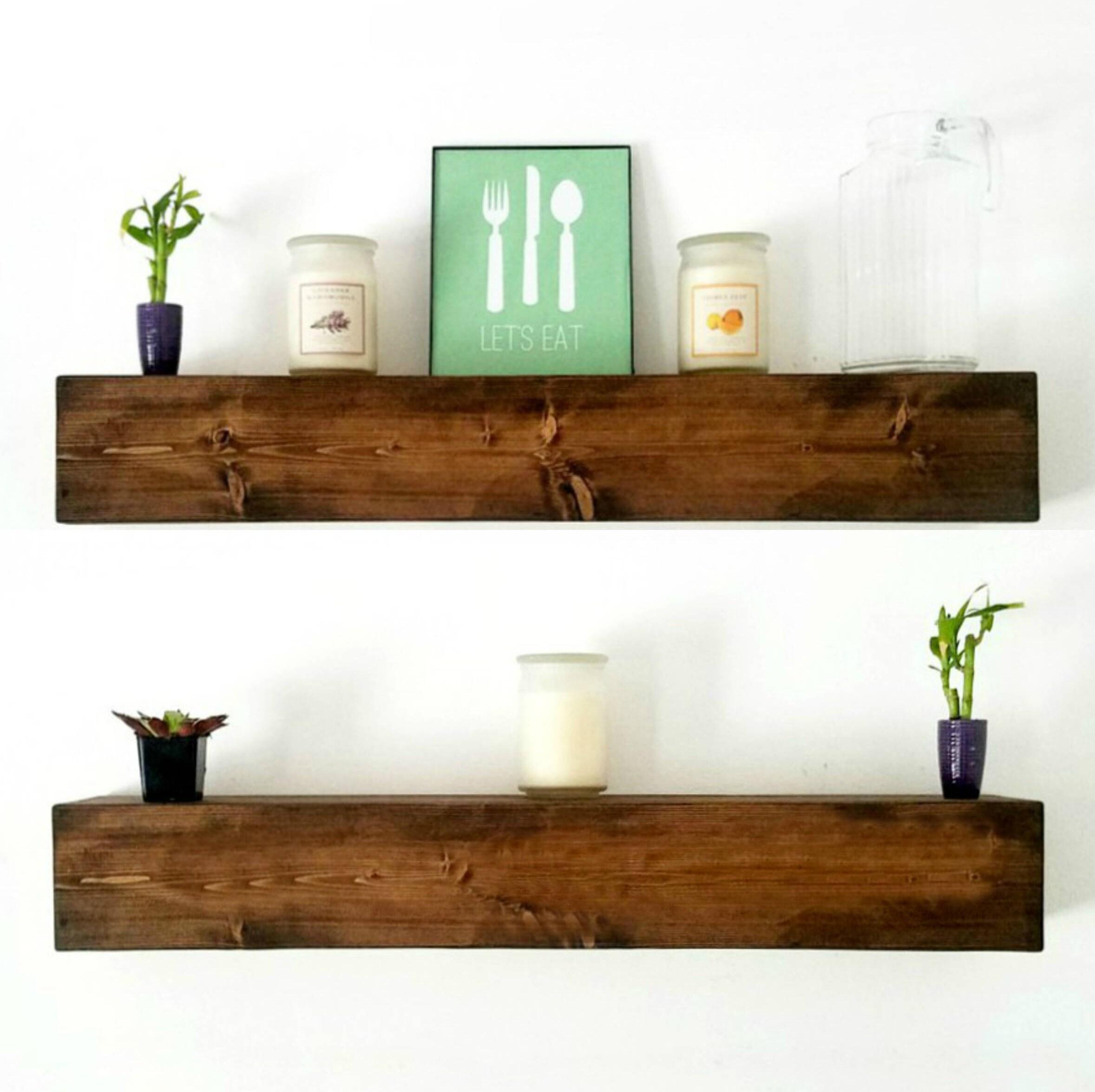 15 Great Diy Farmhouse Decor Ideas That You Must Try: Floating Shelf Farmhouse Decor Floating Shelves Rustic