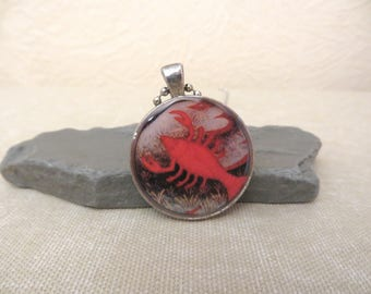 NBX16-32: Cancer, June 22 and July 22, Horoscope Zodiac jewelry, Astrology jewelry, horoscope pendant, water trigon, lobster crab symbol
