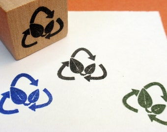 Please Recycle Packaging Rubber Stamp -  Handmade by BlossomStamps
