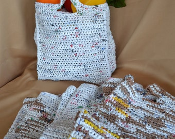 Market Bags - Shopping Bags- Recycled Plastic Bags - Plarn
