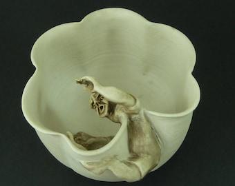 Struggling Potter Bowl Alan & Ruth Barrett-Danes Porcelain Studio Pottery Sculpture