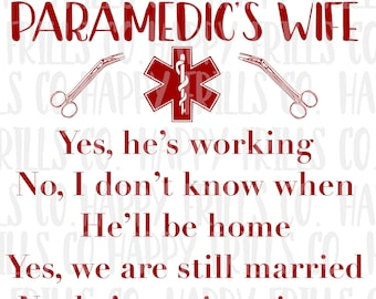 paramedic wife/husband png instant download, mama Design/ designs sublimation