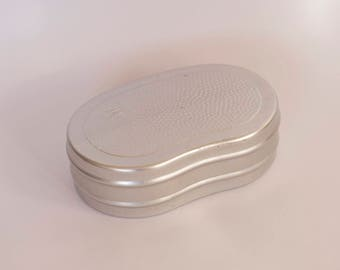 Vintage Aluminium Sandwich box, Camping Lunch box, Bushcraft container, Picnic box, Food box,