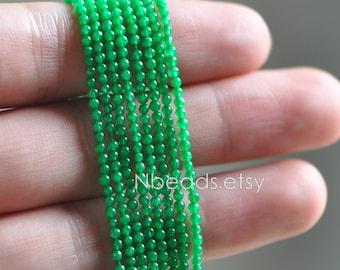 Green Quartz Stone beads 2mm Smooth Round beads -V6054-4 / Full strand