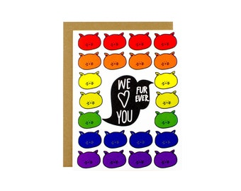 Funny Love Card From Us - We Love You Forever Card