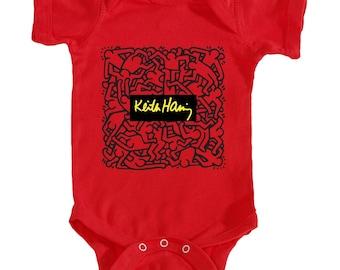 Keith Haring Onesie (Red)