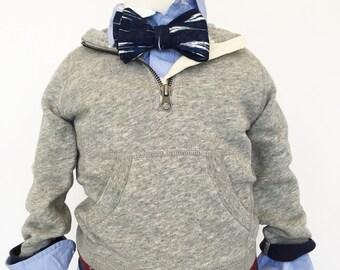 Navy Ikat Bow Tie