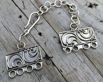 Sterling Silver Mulit Strand Clasp Sterling Silver Four Strand Clasp Sterling Silver Jewelry Supply