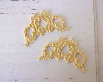 Furniture Appliques * Architectural Centers (2) * Paintable * Flexible * Stainable