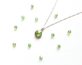 Peridot Necklace, August Birthstone Necklace, August Birthstone Pendant, August Birthday Jewelry, August Birthstone Jewelry