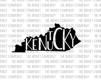Kentucky SVG PNG DXF State Outline Instant Download Silhouette Cricut Cut Files Cutting Machine Vector File