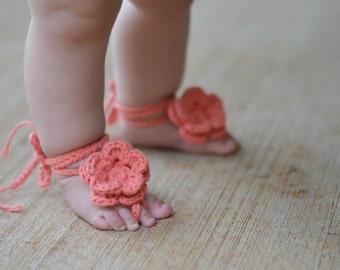 baby sandals, barefoot baby sandals, crochet baby sandals, crochet barefoot baby sandals, baby barefoot sandals