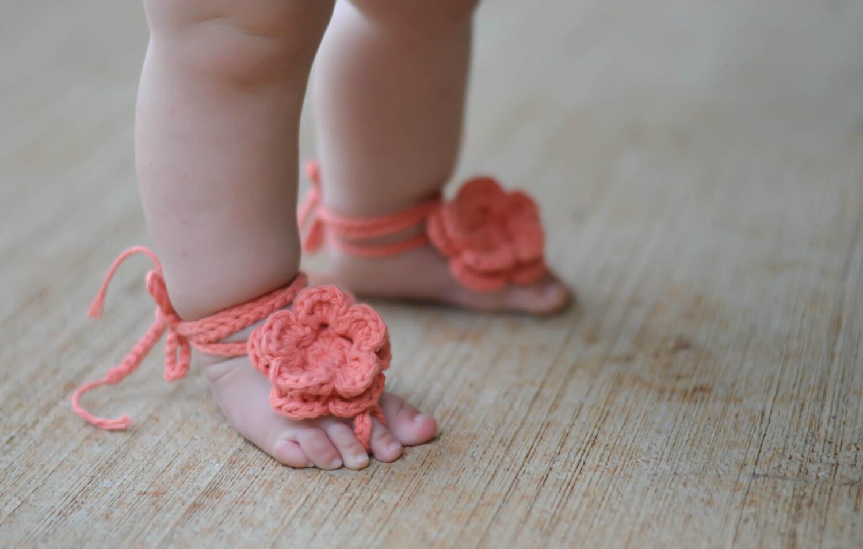 Baby-Sandalen barfuß babysandalen häkeln babysandalen