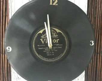 Vintage 78RPM Vinyl Record Clock ~ Record Clock ~ One of Kind Clock