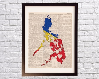 Philippines art etsy more colors philippines dictionary art print publicscrutiny Images