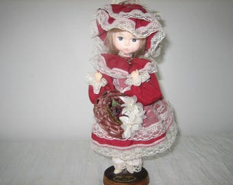 Vintage Bradley Doll - Bradley Miss Ruby July Collectible Doll -  Blonde July Bradley Doll With Ruby Red Birthstone Necklace