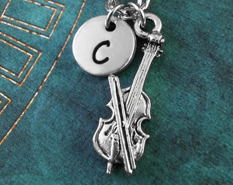 Cello Necklace, Personalized Necklace, Cello Pendant, Gift for Cellist, Silver Cello Charm Necklace, Musical Jewelry, Classical Music Gift