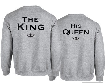 King and Queen Sweatshirt Set, Perfect Couples Shirts - 426