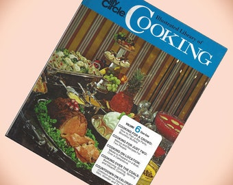 Family Circle Illustrated Library of Cooking Volume 6 1970s Hardcover
