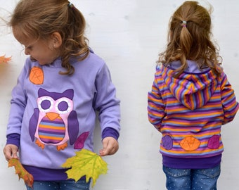 Owl hoodie for girls, hoodies for girl, girl toddler clothes, baby hooded sweatshirt, baby hoodies, sweatshirts for girls, toddler pullover