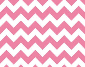40% OFF SALE!  Chevron Medium Hot Pink - Riley Blake