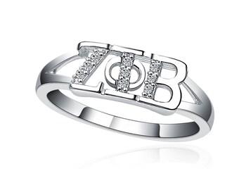 Zeta Phi Beta Ring - Horizontal Design Sterling Silver (ZPB-R001)