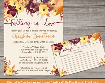 fall bridal shower invitations fall floral bridal shower invitations watercolor floral fall in