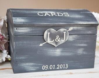 Vintage Wedding Card Box Rustic Card Box