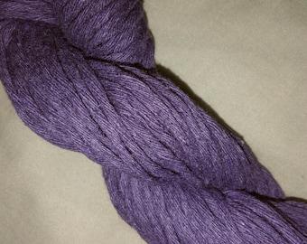 Soft 100% Cotton  Aran/Worsted.  Purple 100g
