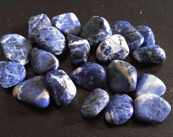 Tumbled blue sodalite
