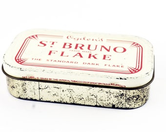 Ogden's St Bruno Flake Tobacco Tin - Vintage, Advertising