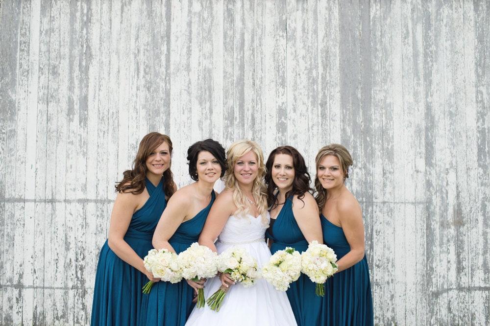 Peacock Teal Blue Convertible Bridesmaid Dresses